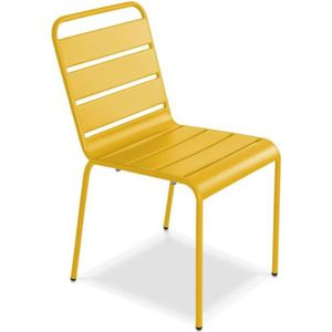 FAUTEUIL JARDIN  Chaise de jardin en métal Palavas Jaune
