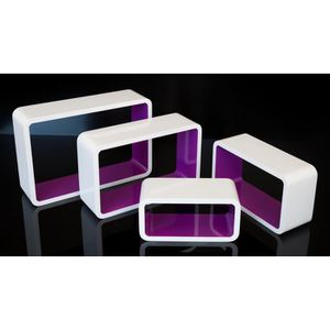etagere cube violet achat vente etagere cube violet. Black Bedroom Furniture Sets. Home Design Ideas