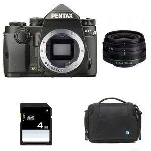 APPAREIL PHOTO RÉFLEX PENTAX KP NOIR + 18-50 mm f/4-5.6 DA-L DC WR RE +