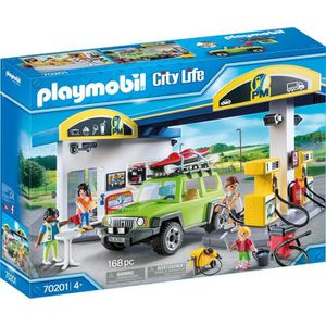 UNIVERS MINIATURE PLAYMOBIL 70201 - City Life - Station essence - No