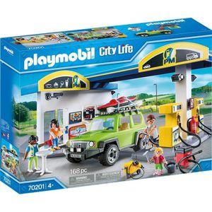 UNIVERS MINIATURE PLAYMOBIL 70201 - City Life - Station essence - No