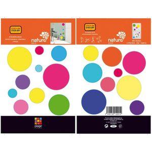 STICKERS BULLES COLOR Stickers muraux enfant 2 planches 11x