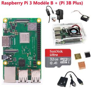 CARTE MÈRE Raspberry Pi 3 Model B+(Pi 3 B Plus)Starter Kit SD