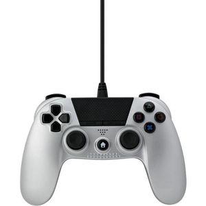 MANETTE JEUX VIDÉO Manette filaire Argent 3m Under Control pour PS4