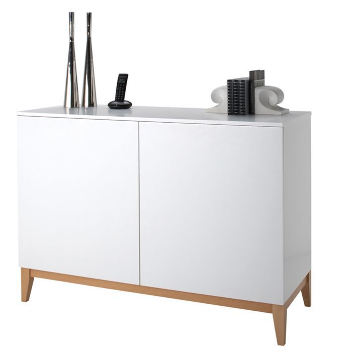 blanco buffet 2 portes ch ne blanc achat vente. Black Bedroom Furniture Sets. Home Design Ideas