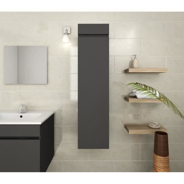 luna colonne de salle de bain 30 cm gris mat achat vente colonne armoire sdb lana. Black Bedroom Furniture Sets. Home Design Ideas