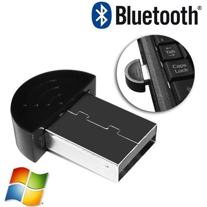 ADAPTATEUR BLUETOOTH Elypse Mini clé Bluetooth USB 2.0