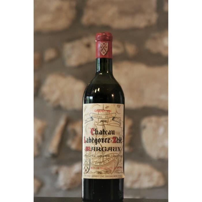 Vin rouge, Margaux, Château Labegorce Zede 1959 Rouge