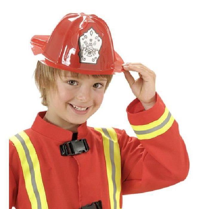 12 Casques de pompier enfant 2/8 ans Multicolore