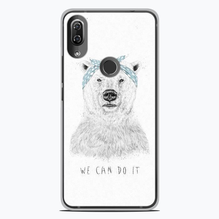 Coque Housse Wiko View 2 Pro en silicone gel protection arrière- BS We can do it