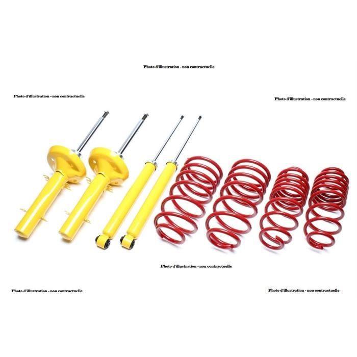 Kit suspension amortisseurs + ressorts pour BMW serie 3 E90 berline de 03-2005 a 2013, en rabaissement 45-30mm, charges maxi avan...