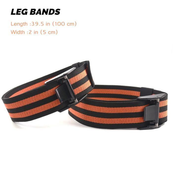 BFR bandes d'occlusion bandes de résistance Pro Fitness bras jambe Blaster bandes d'exercice - Modèle: 2 Leg Bands - HSJSTLDA10180