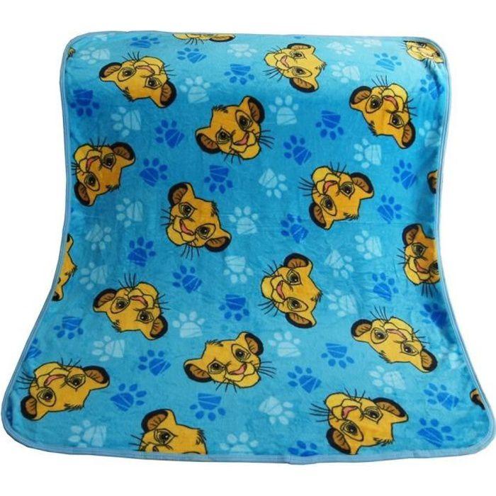 couverture Super douce bleue Simba roi Lion pour bébés filles et garçons, plaid de couchage Animal de compagnie, [B207491]