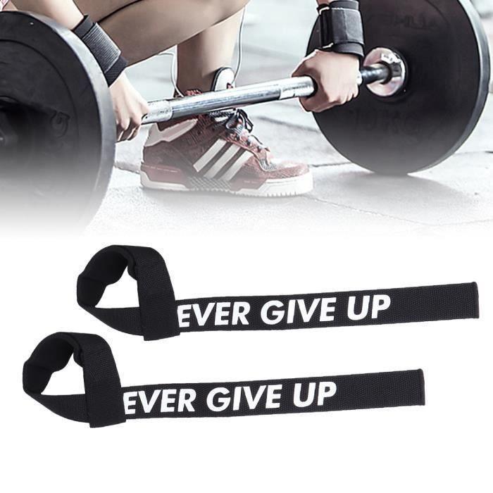 1 paire musculation Gymnase levage Sangles d'haltérophilie Ceinture poids au poignet Bracelet haltères