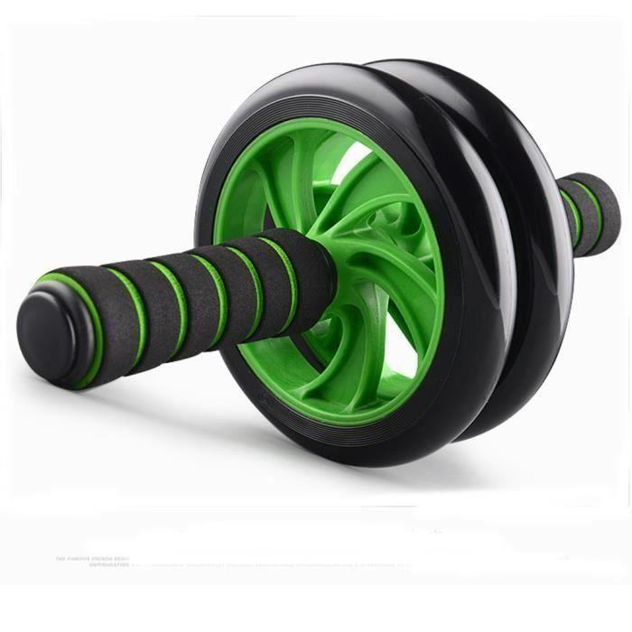 BLEOSAN Roue Abdominale, AB Wheel, Appareil Exercice Musculation Abdominaux, Vert Bi24196