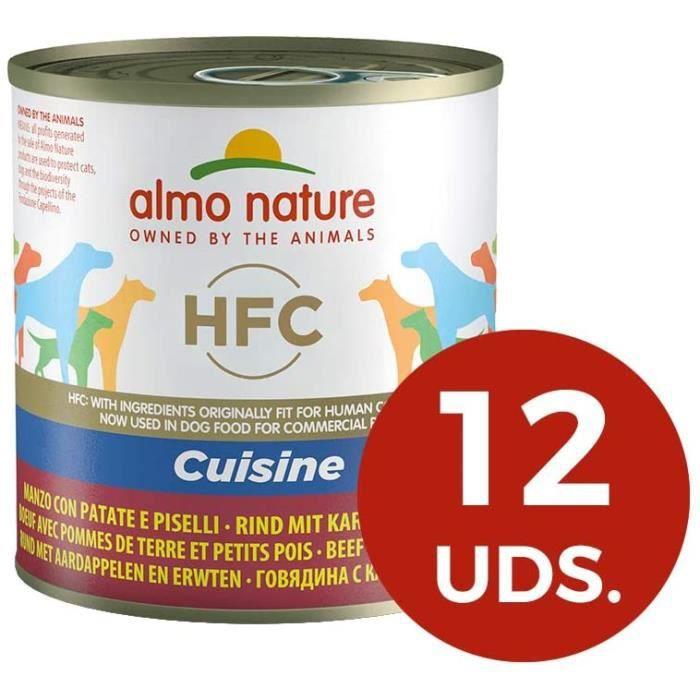 Nourriture pour chiens Almo Nature HFC mouillé Nourriture pour Chien, Cuisine de Boeuf avec Pommes de Terre et Petits Po 36404