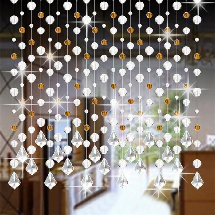 AR6092 DIVV cristal verre perle rideau de luxe salon chambre fenêtre porte mariage décor cristal rideau livraison directe-D