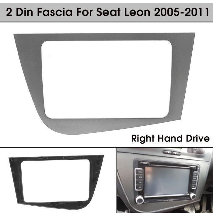 NEUFU Kit Montage 2 DIN Autoradio Cadre de Radio Façade RHD Pour Seat Leon 2005-2011