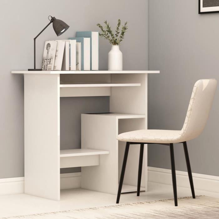 MONE Bureau Scandinave - Bureau de table Bureau console Blanc 80 x 45 x 74 cm Aggloméré☺89176