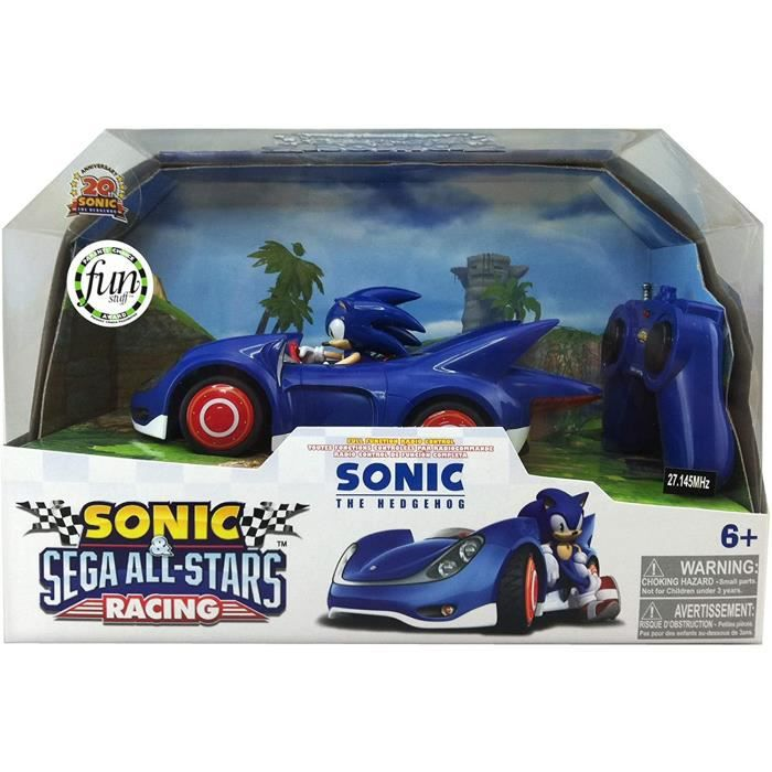 VEHICULE Sonic - 611M - V&eacutehicule Miniature RadioCommandé - V&eacutehicule RC - Personnage - Sonic
