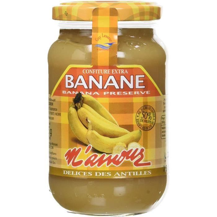 Confiture Banane 325 g Lot de 6 76