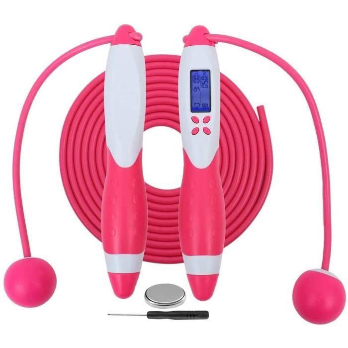 Cordes à Sauter Comptage numérique Calories Réglage du Temps Corde à Sauter sans Fil ou réglable Corde à Sauter pour Exercice de Fit