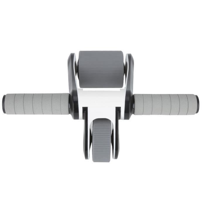Garosa 2 Roues Ab Roller Wheel 2 roues Ab Wheel Roller Abdominal Muscle Exerciser Gym Home Fitness Equipment avec genouillère