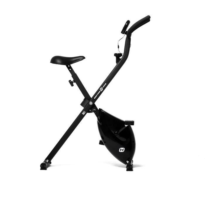 BODYTONE Vélo d'appartement DUX ultra-pliable avec 4 kg de masse d'inertie. Écran LCD avec 6 fonctions