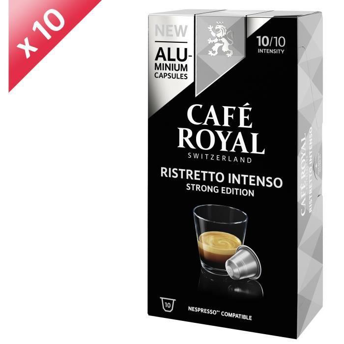[LOT DE 10] CAFE ROYAL Café Ristretto Intenso - Compatible Nespresso aluminium - 10 capsules