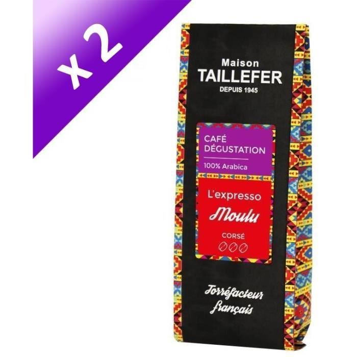 [LOT DE 2] MAISON TAILLEFER L'expresso - Café Dégustation Moulu 250g