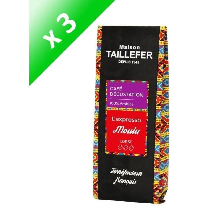 [LOT DE 3] MAISON TAILLEFER L'expresso - Café Dégustation Moulu 250g