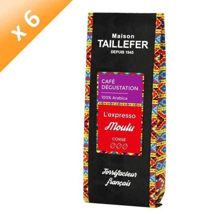 [LOT DE 6] MAISON TAILLEFER L'expresso - Café Dégustation Moulu 250g