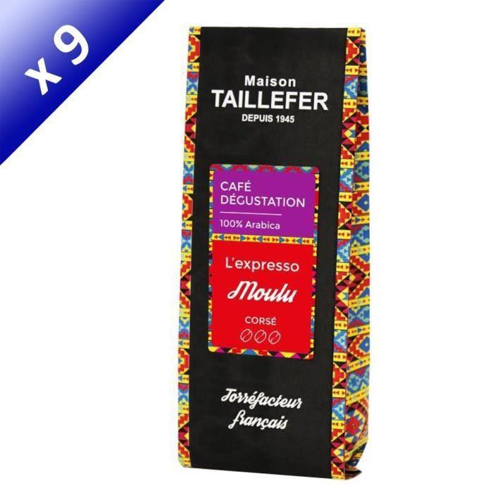 [LOT DE 9] MAISON TAILLEFER L'expresso - Café Dégustation Moulu 250g