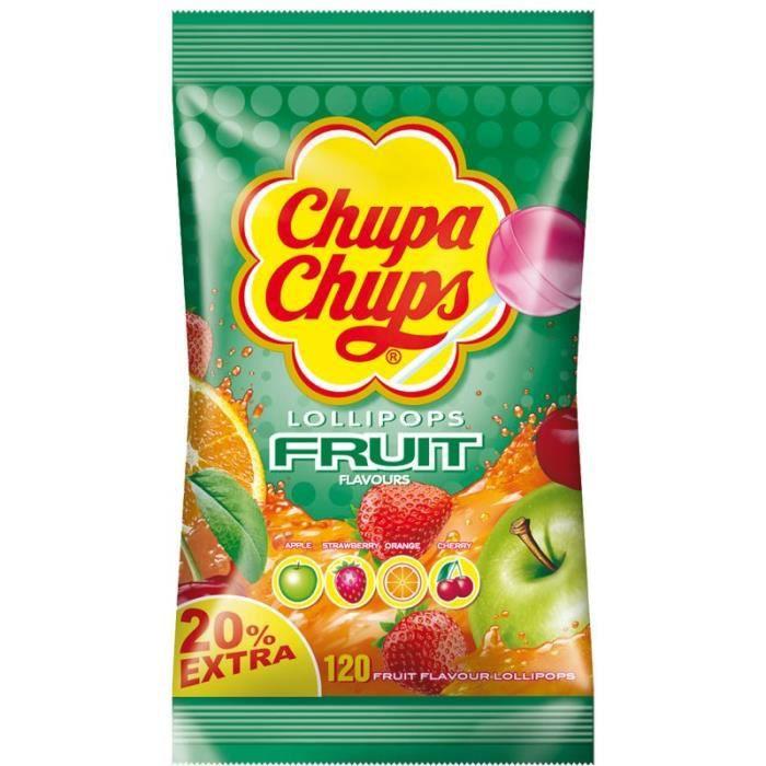 Sucettes Chupa Chups Fruit, 120 pièces