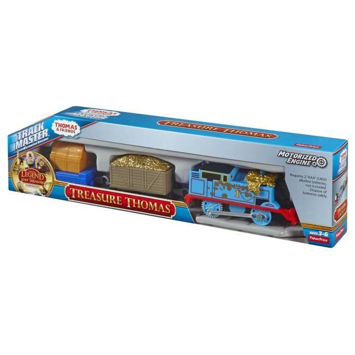 Thomas et ses Amis - CDB76 - Track Master - Thomas et Le Trésor - Locomotive Motorisé et Wagon