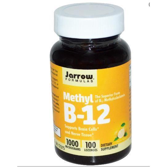 Jarrow Formulas, méthyl B12, saveur citron,1000 mcg,100 pastilles.
