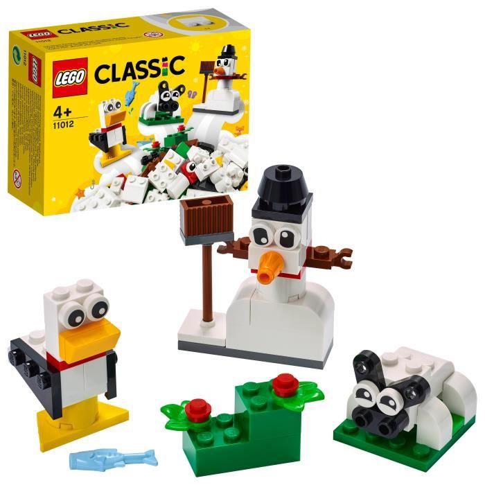 LEGO® 11012 Classic Briques Blanches Créatives Premier Jeu de Construction avec Bonhomme de Neige pour Enfant de 4 Ans et +