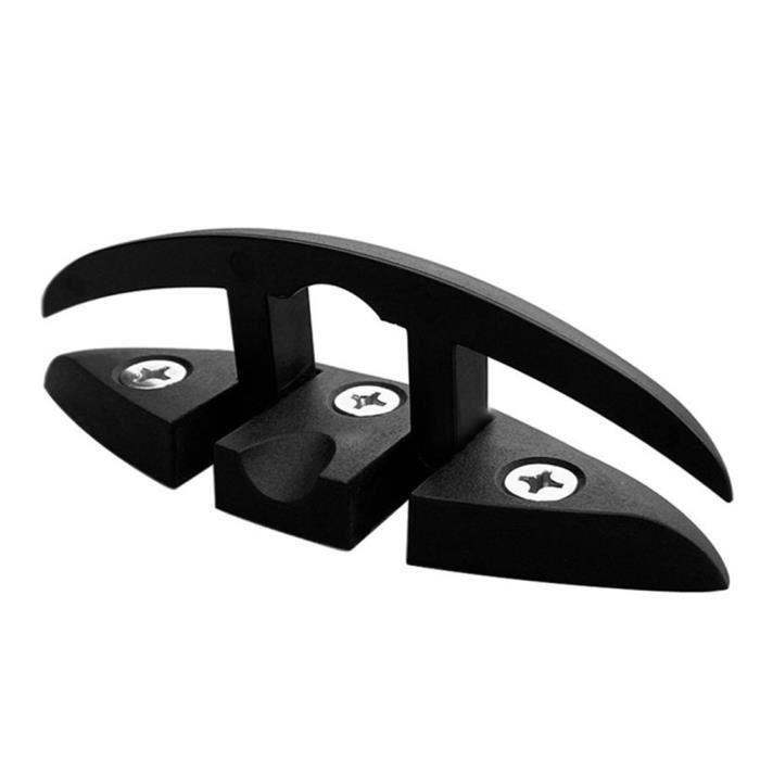 Nylon pliable Bateau pliable Taquet Taquet pour Quai Pont de bateau Noir Matériel 130mm