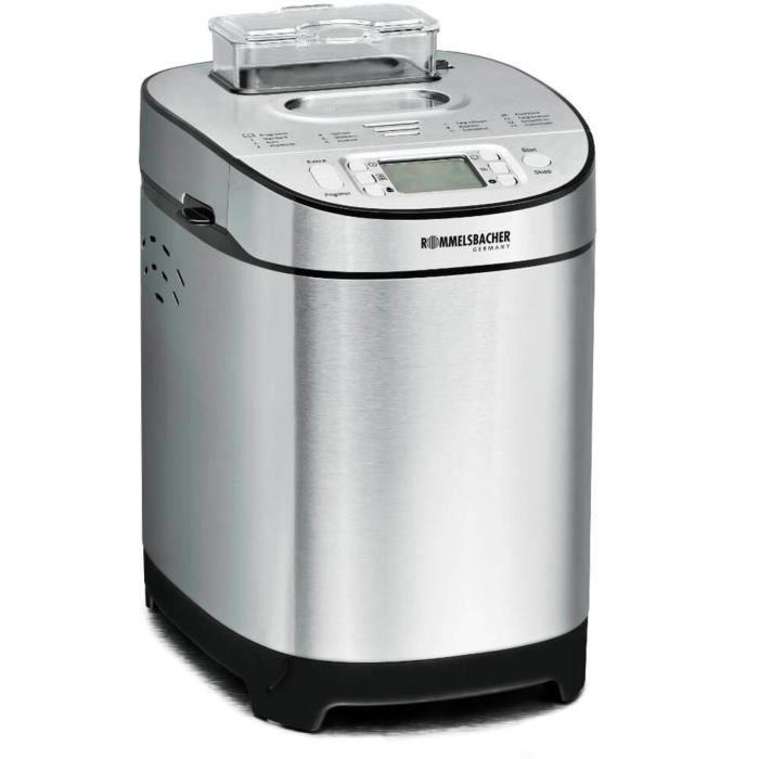Rommelsbacher Machine à pain BA 550 machine à pain Acier inoxydable 550 W