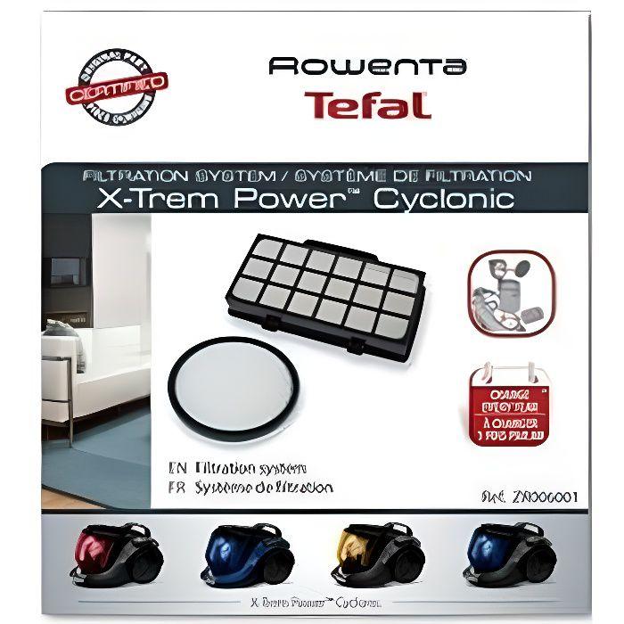 Kit filtre (x2) X-Trem Power Cyclonic Aspirateur Rowenta (ZR006001)