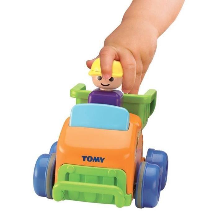 TOMY Assortiment de 3 véhicules Pousse roule