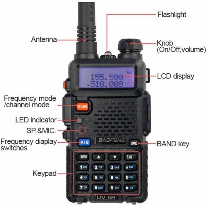 TALKIE-WALKIE Baofeng Uv 5r Talkie Walkie 5 W Bibande Portable R