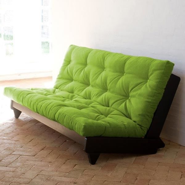convertible fresh weng fuon vert achat vente canap sofa divan cdiscount. Black Bedroom Furniture Sets. Home Design Ideas