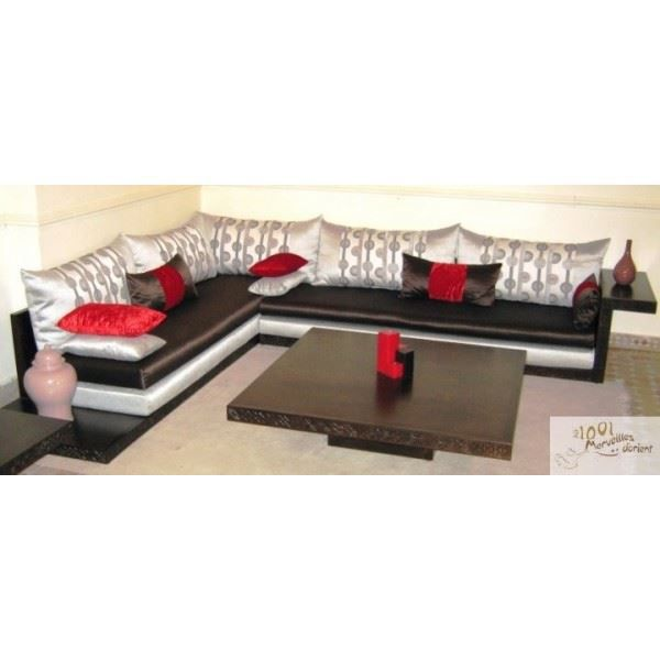 salon marocain moderne atlas haut de gamme en b achat vente ensemble canapes cdiscount. Black Bedroom Furniture Sets. Home Design Ideas