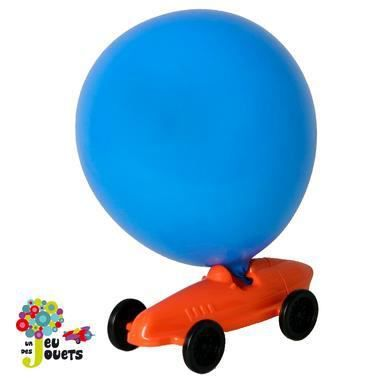 voiture ballon vehicule de course propulsion a air jouet enfant 4 ans orange achat vente. Black Bedroom Furniture Sets. Home Design Ideas