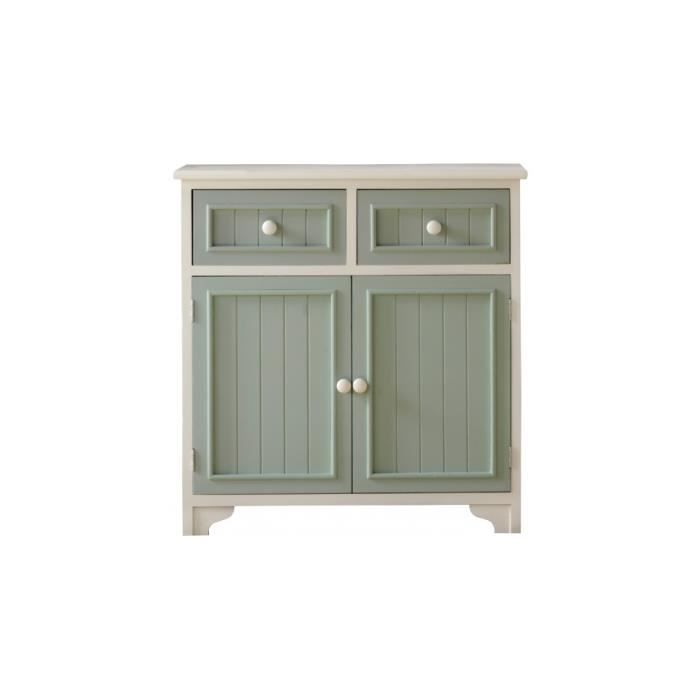 buffet pin massif blanc 2 portes 2 tiroirs vert d 39 eau achat vente buffet bahut buffet pin. Black Bedroom Furniture Sets. Home Design Ideas