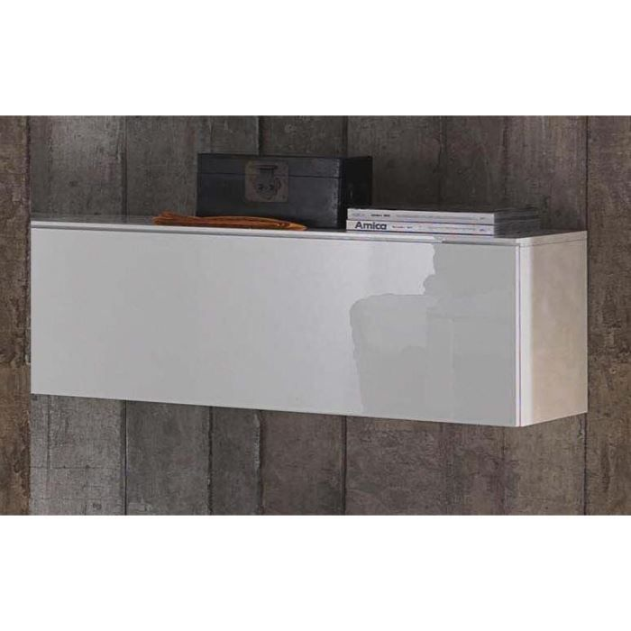 Meuble rectangulaire suspendu porte battante achat vente meuble tag - Meuble suspendu salon design ...