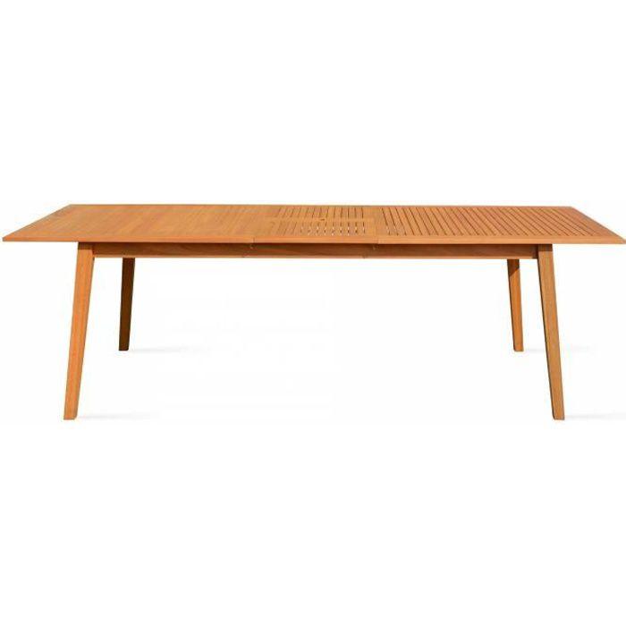 Table de jardin extensible en bois eucalyptus FSC, longueur ...