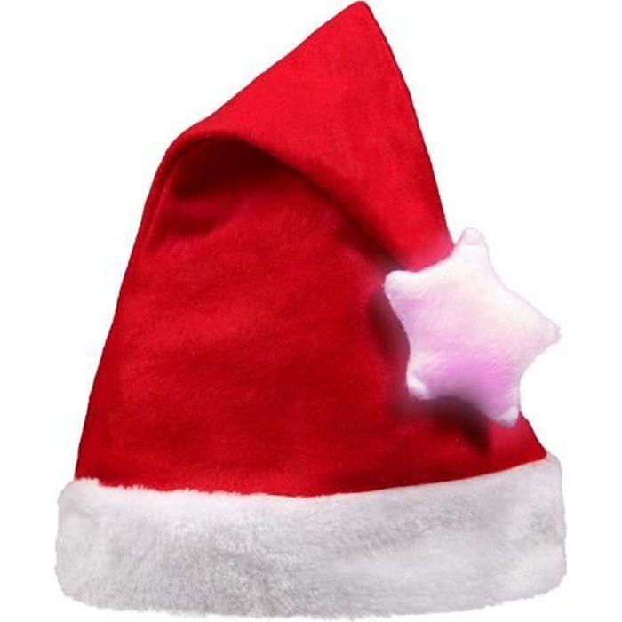 Lot de 12 Bonnets de mère Noël adulte rouge nattes tresses pompon blanc wm-07
