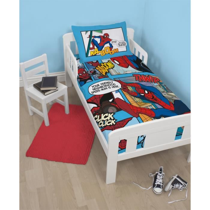 Parure de lit junior spiderman ultimate thwip achat for Housse de couette junior